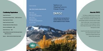 brochure - Taskforce on Adapting Forests to Climate Change