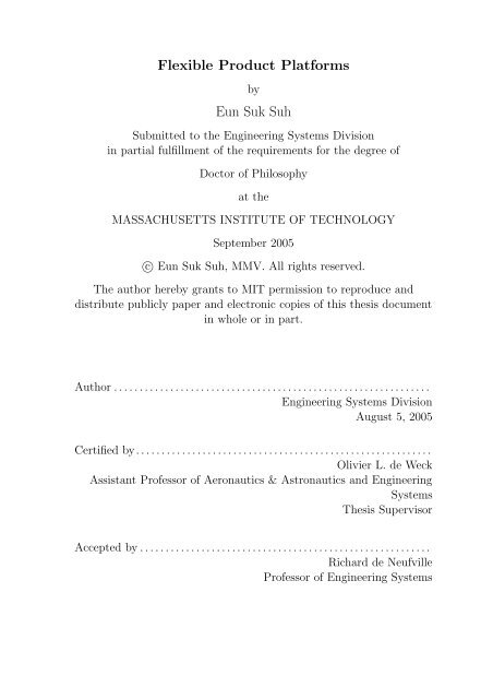 Flexible Product Platforms Eun Suk Suh - Title Page - MIT