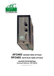 afo485: modem fibre optique rfo485 - Etic Telecom