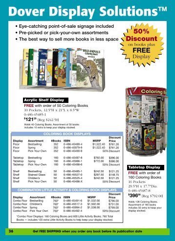 Restocking Packs - Dover Publications