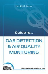 Gas DetectION & aIr QualIty MONItOrING - Critical Environment ...