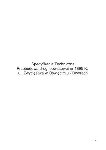 Specyfikacja Techniczna Przebudowa drogi powiatowej nr 1895 K ...