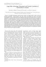 Large Male Advantage: Phenotypic and Genetic Correlates ... - BioOne