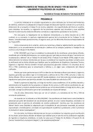 Normativa - Universidad Politécnica de Valencia