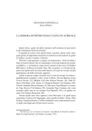 Continella G., La dimora di Pietro Paolo Vasta in Acireale