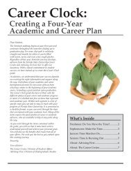 A Four Year Academic and Career Planning Guide - The Career ...