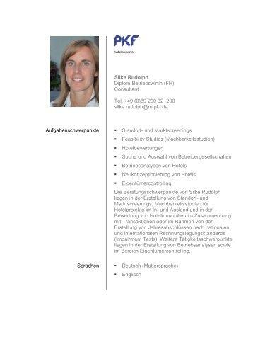 Silke Rudolph Diplom-Betriebswirtin (FH) - PKF Fasselt Schlage