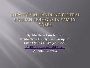 By: Matthew Lundy, Esq. The Matthew Lundy Law Group, P.L. 1-855 ...