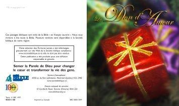 Le Don d'Amour - Levangelisation.com