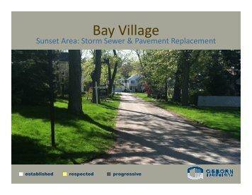 Osborn Engineering Company Power Point ... - City of Bay Village