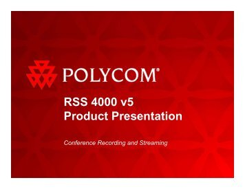 RSS 4000 v5 Product Presentation - 1 PC Network Inc