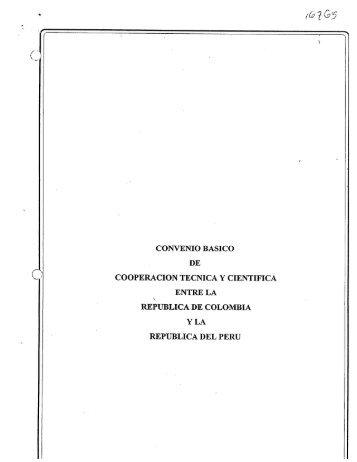 CONVENIO BASICO DE COOPERACION TECNICA Y CIENTIFICA ...