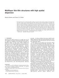Multilayer thin-film structures with high spatial dispersion - Electrical ...