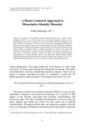 A Heart-Centered Approach to Dissociative Identity Disorder