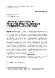 activity-based costing as an information basis for ... - Economic Annals