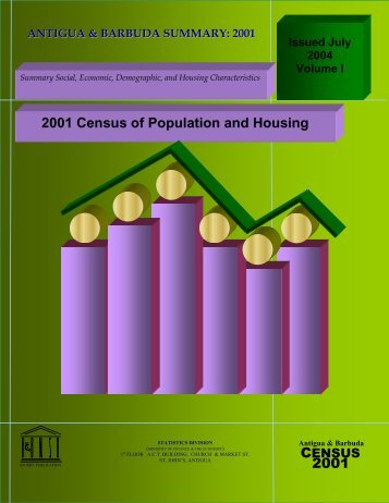 Complete Census Summary Report 2001 - Antigua & Barbuda