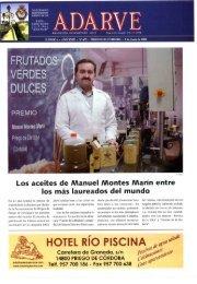 Los aceites de Manuel Montes Marin entre los ... - Periódico Adarve