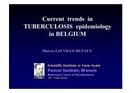 Current trends in TUBERCULOSIS epidemiology in BELGIUM
