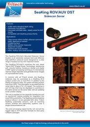 Tritech SeaKing Sidescan Sonar System - Seatronics