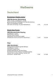 Weinkarte 10.10 - Hotel Rheinsberg am See