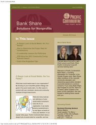 October 2012 - Pacific Continental Bank