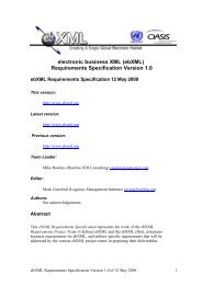 electronic business XML (ebXML) Requirements Specification ...
