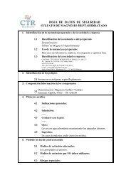 Sulfato de Magnesio Heptahidratado MSDS - CTR Scientific