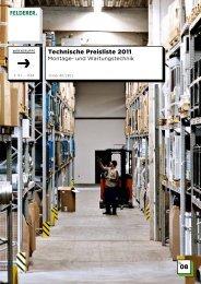 08 Technische Preisliste 2011 - Felderer