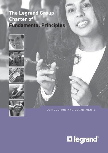 The Legrand Group Charter of Fundamental Principles - Bticino