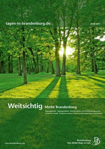 Weitsichtig Marke Brandenburg - Reiseland Brandenburg