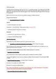 Chers participants, La Raisin d'Or en Sauternais aura lieu les 10 et ...