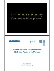 InTouch 2012 and System Platform 2012 New Features ... - Klinkmann.