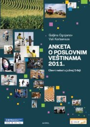 Anketa o poslovnim veštinama 2011 - USAID Projekta održivog ...