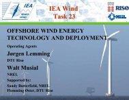 IEA Wind Task 23 - We@Sea