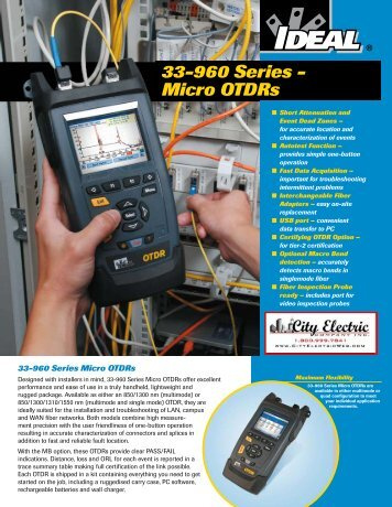 IDEAL OTDR Optical Time-Domain Reflectometer Brochure