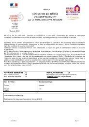 EVALUATION des BESOINS d'ACCOMPAGNEMENT par un ...
