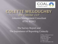 Asbestos Management Consultant 07791 412912 The ... - BOHS