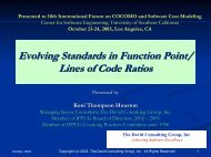 Evolving Standards in Function Point - USC Center for Systems and ...