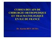 Cursus interne AFS en IDF - ClubOrtho.fr