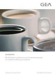 Instantkaffee pdf, 3.1 MB - GEA Westfalia Separator Group
