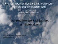 The emotion work of fathers in a neonatal unit