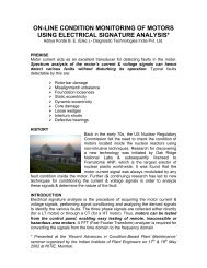 on-line condition monitoring of motors using electrical ... - PowerSight