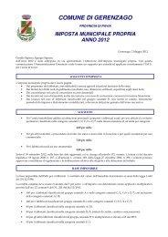 imposta municipale propria anno 2012 - Comune di Gerenzago