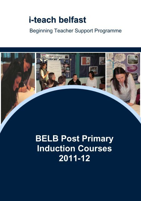 BELB Post Primary Induction Courses 2011-12 i-teach belfast