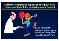 vaccins - Société pédiatrique de pneumologie et d'allergologie (SP2A)
