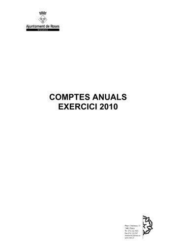 COMPTES ANUALS EXERCICI 2010 - Ajuntament de Roses