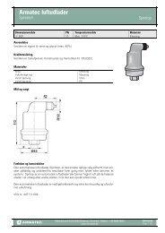 ProduktbladProduktfil Armatec luftudlader - Spirotech