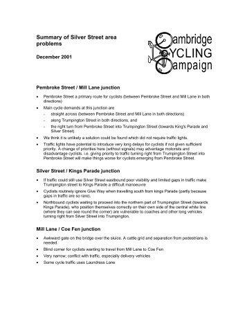 original comments - Cambridge Cycling Campaign