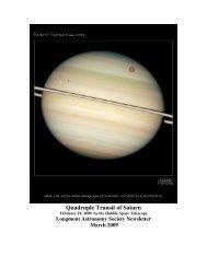 Quadruple Transit of Saturn - Longmont Astronomical Society