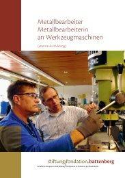 Metallbearbeiter/in an Werkzeugmaschinen - Stiftung Fondation ...